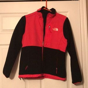 Hot pink and black North Face full zip